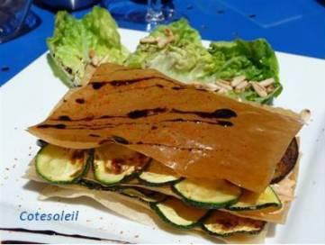 Millefeuille-legumes-grilles-ricotta & pignon