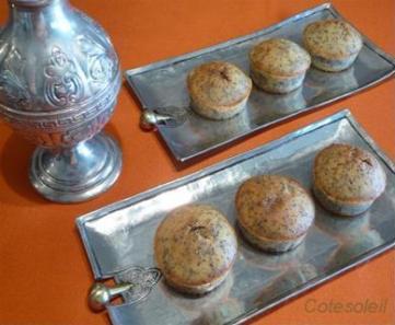 Muffins-fleur-d'oranger & graines-pavot