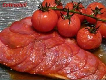Saumon en ecailles de chorizo