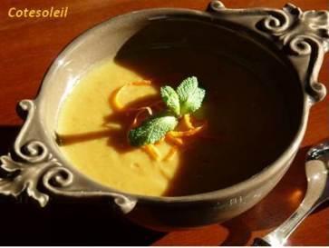 Veloute-patates-douces-poire & lait-coco