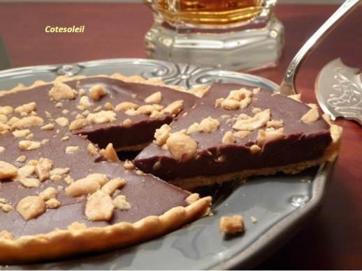 Tartelettes au chocolat eclats cacahuetes salées