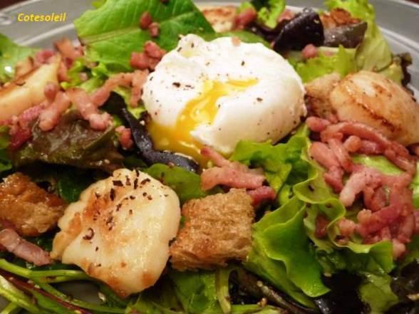 Salade-st-jacques-lyonnaise