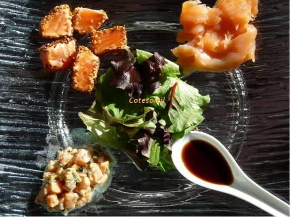 Declinaison de saumon