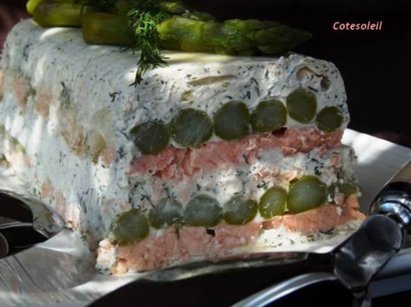 Terrine de saumon & asperges