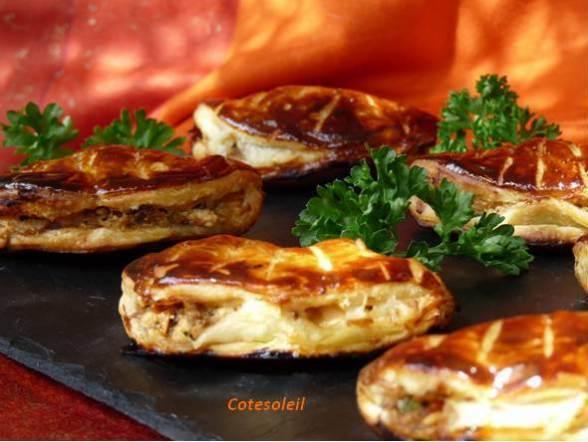 Chaussons-poulet-caviar-aubergine & feta