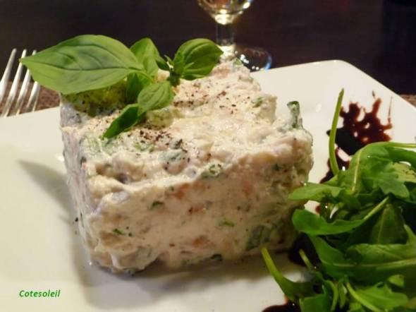 Tartare-artichauts-saumon-fume & ricotta