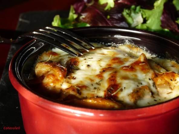 Cassolette-poulet-coppa & artichaut