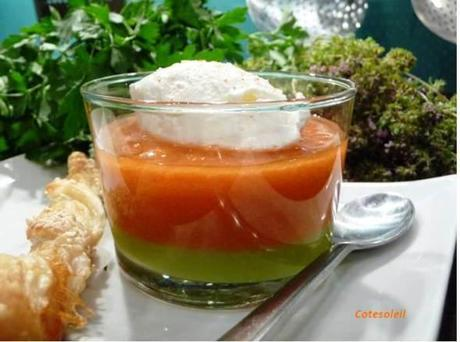 Gaspacho andaloux revisite & chantilly