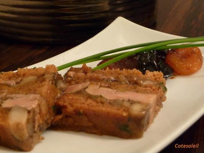 Terrine foie gras au pain d'épice