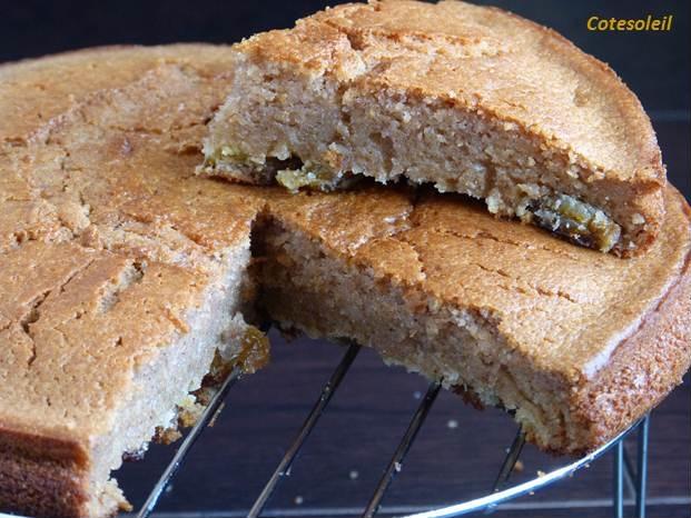 Gâteau raisins secs cannelle