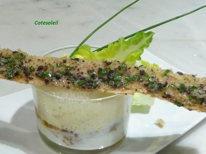Oeuf cocotte foie gras sucrine