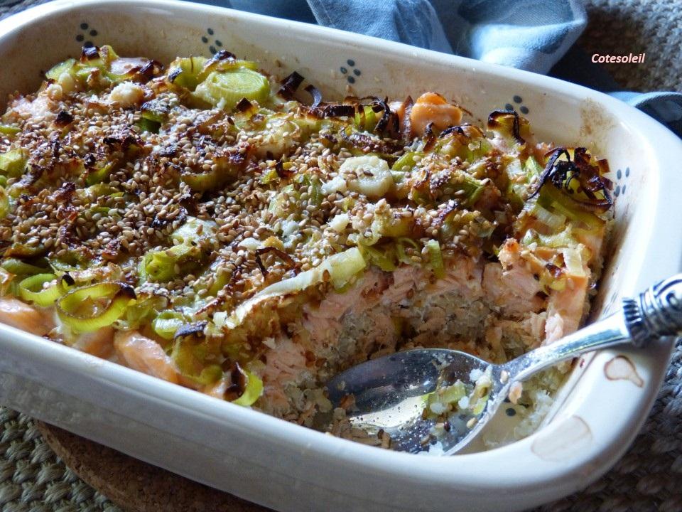 Pie de saumon & quinoa
