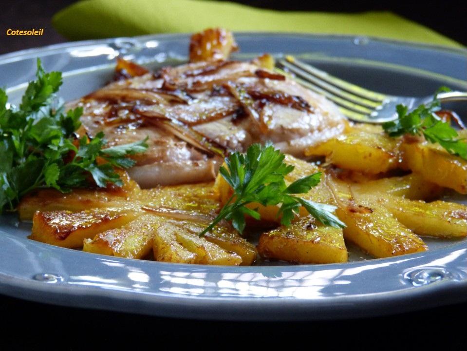 Grenadin de veau & ananas dorés