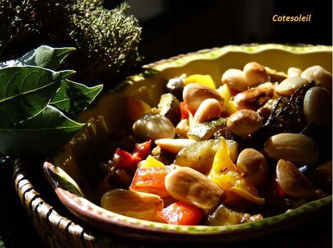 Mitonnée de légumes & amandes