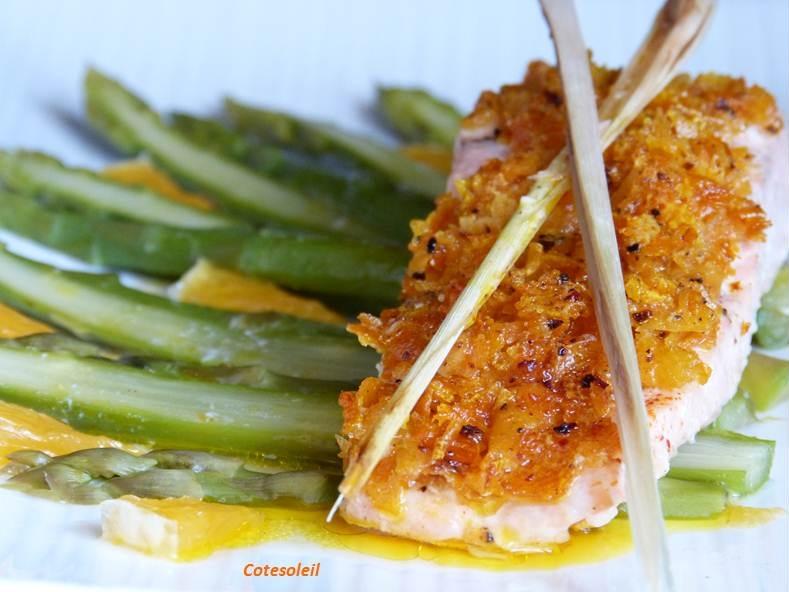 Pavé de saumon en croûte d'agrumes