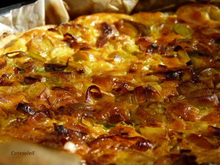 Quiche haddock poireaux & curry