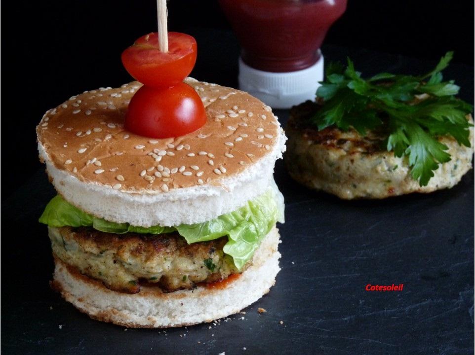 burger de poulet epice c t soleils les recettes de sophie. Black Bedroom Furniture Sets. Home Design Ideas