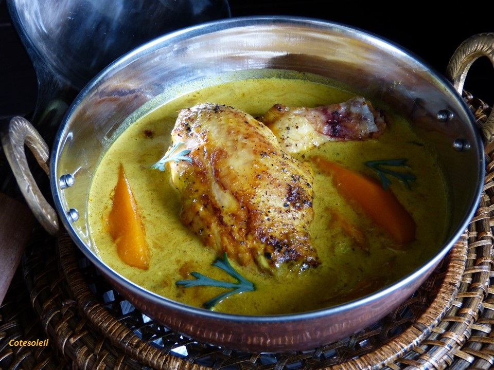 Curry de poulet à la mangue