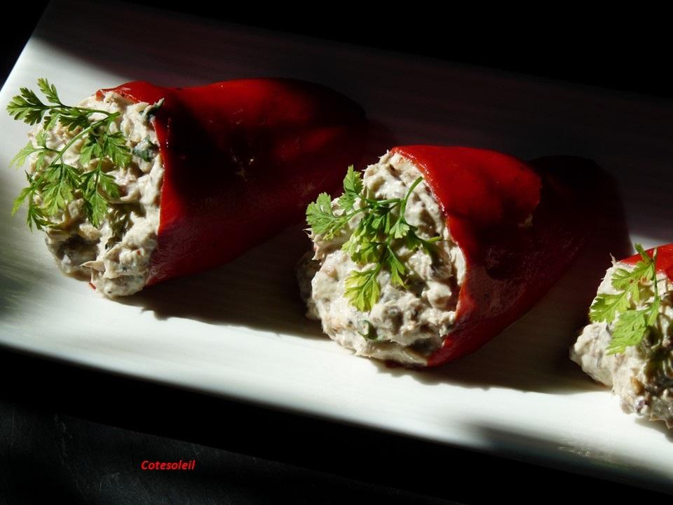 Piquillos à la crème de sardine