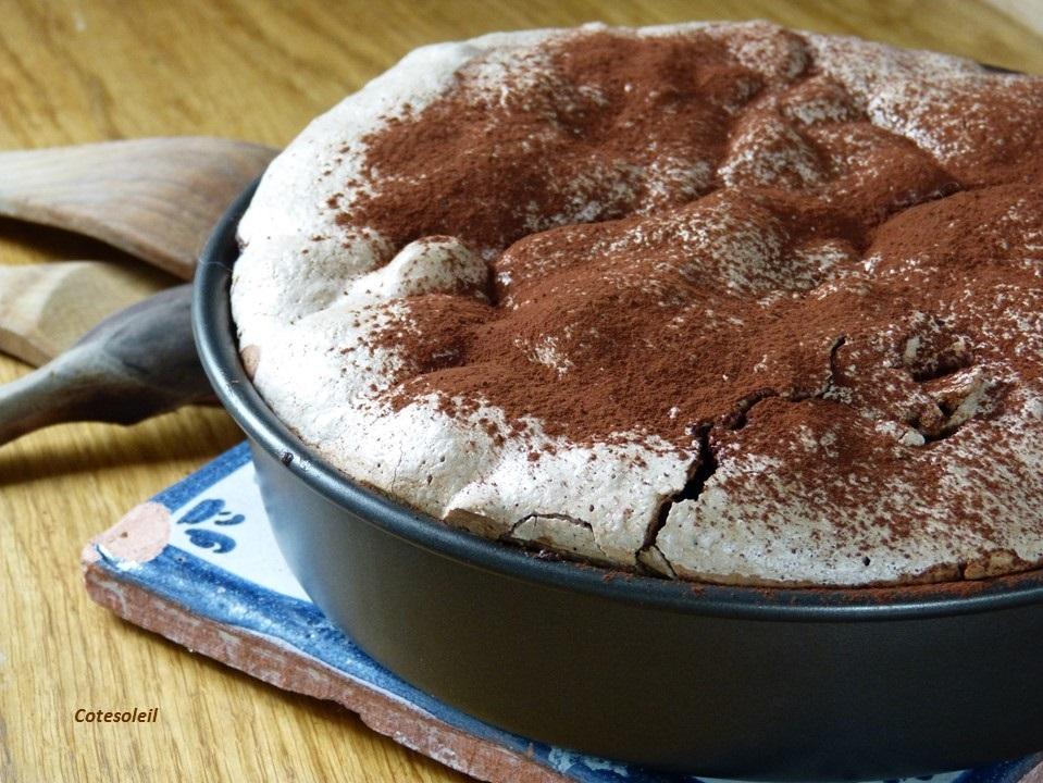 Gâteau chocolat meringue chocolatée