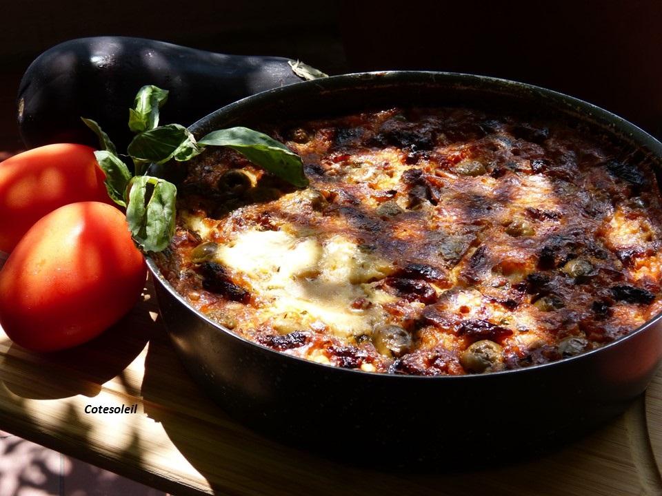 Clafoutis tomates cerise mozza