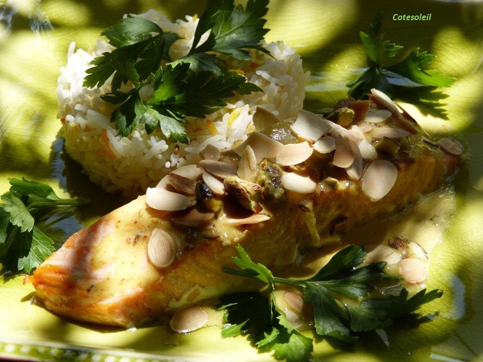 Saumon au curry vert