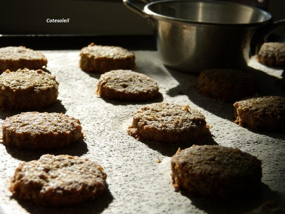 Biscuits coco sésames