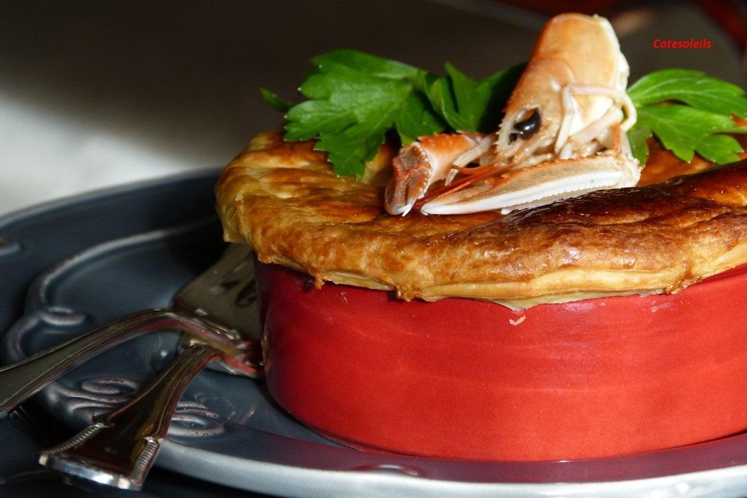 Cassolette de langoustine gambas & St-Jacques