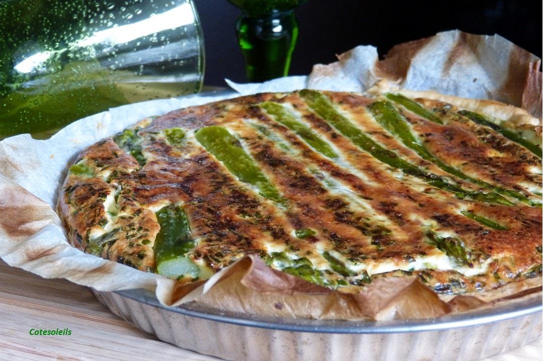Quiches aux asperges vertes & au crabe