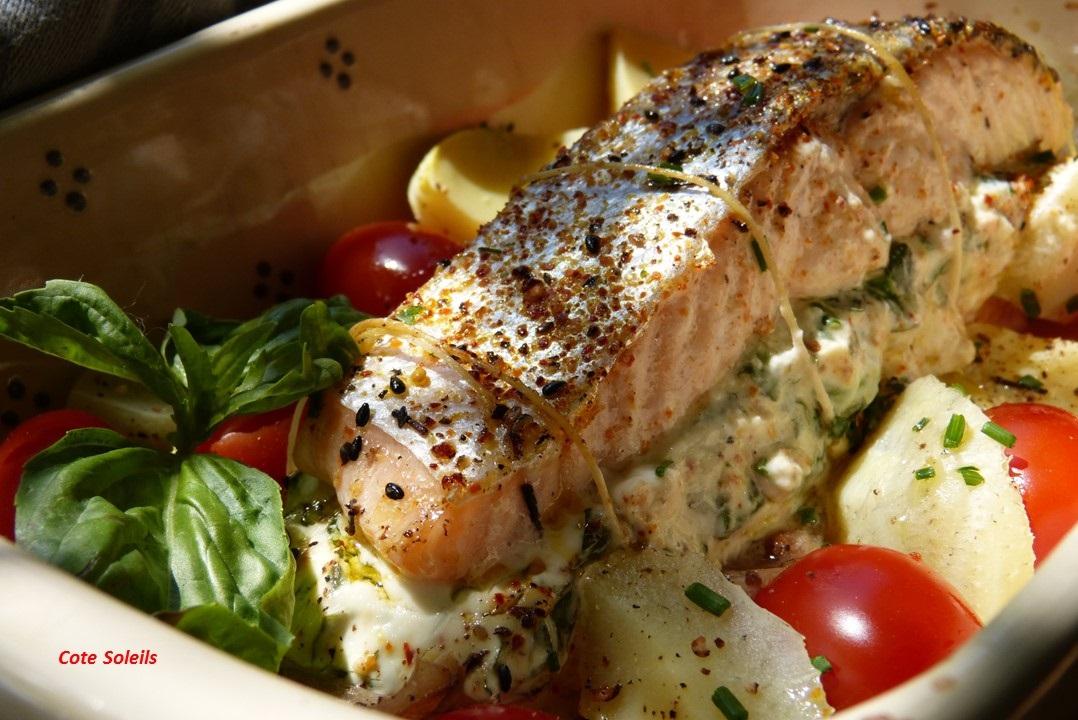 Roti de saumon