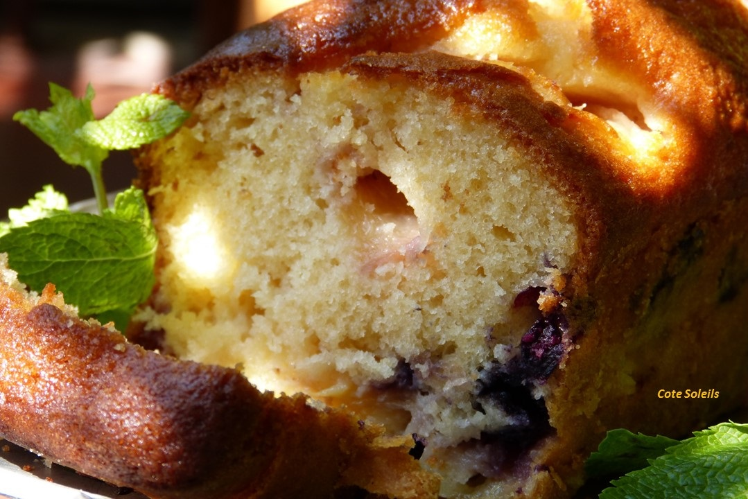 Cake nectarines & groseilles