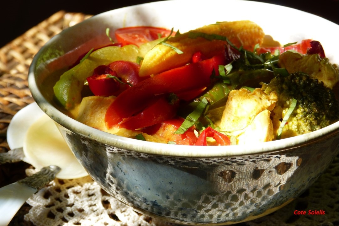 Curry jaune de poulet