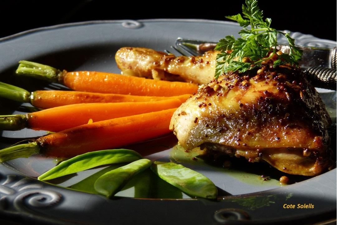 poulet-aux-epices-douces-carottes-fanes