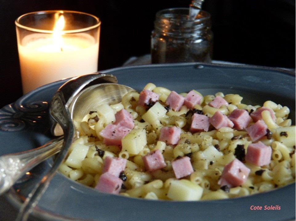 coquillette-au-jambon-tapenade-truffes
