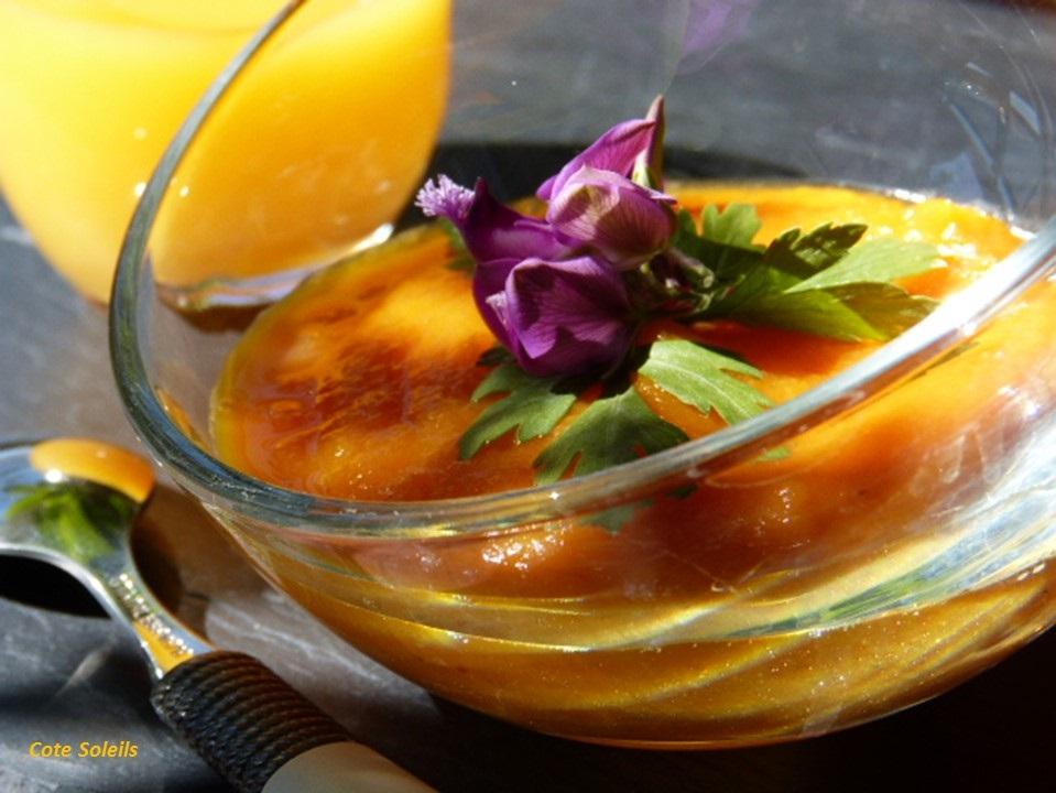 soupe glacee aux carottes nectar d 39 orange cumin c t soleils les recettes de sophie. Black Bedroom Furniture Sets. Home Design Ideas