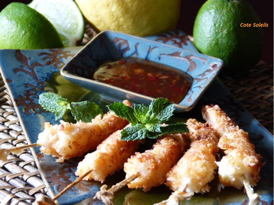 Crevettes en croute de panko
