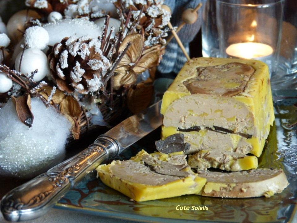 Terrine de foie gras aux truffes